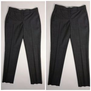 Theory Wool Blend Taper Ankle Trousers Slacks